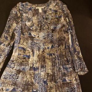 Multicolored quarter length blouse